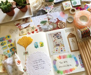 art, colors, and journal image
