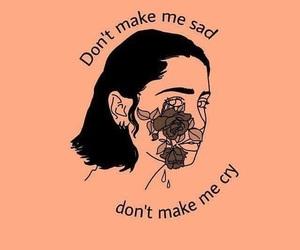 sad, cry, and Lyrics image