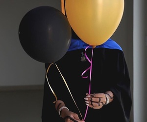 arab, balloons, and girl image