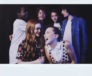 stranger things, finn wolfhard, and sadie sink image