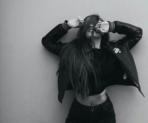 black and white and outfit image
