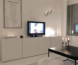 apartment, candle, and decor image