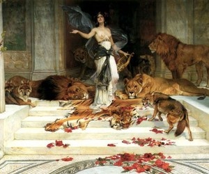 art, painting, and lion image