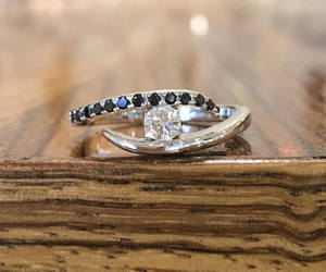 diamond ring, etsy, and engagement ring image