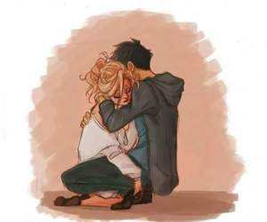 percy jackson, percabeth, and hug image