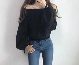 korean, outfits, and tumblr image