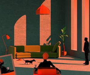 apartment, art, and pets image