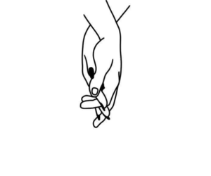hands, drawing, and couple image
