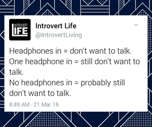 headphones, introvert, and introverted image