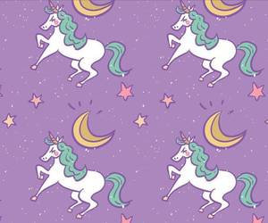 unicorn, stars, and wallpaper image