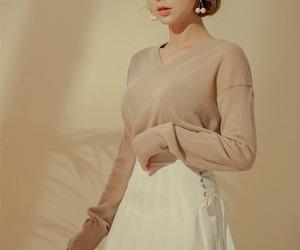 asian fashion, korean fashion, and skirt image