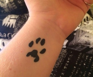 paw print, Tattoos, and first tattoo image