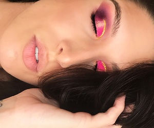 beauty, makeup, and winged liner image