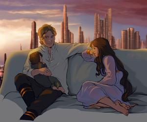 art, han solo, and Princess Leia image