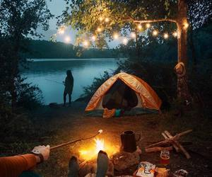 camping, nature, and forest image