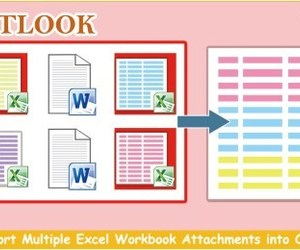 outlook vba, excel workbook, and email attachment image