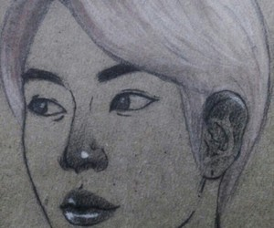 art, jin, and bts image