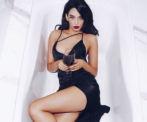 brunette, Hot, and wine image