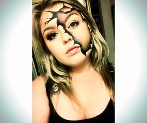 makeup, spooky, and halloween makeup image