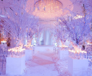 winter, wedding, and white image