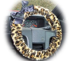 animal print, leopard print, and steering wheel cover image