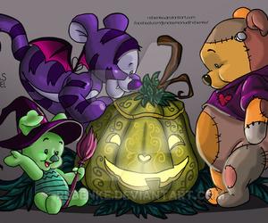 Halloween, piglet, and pumpkin image