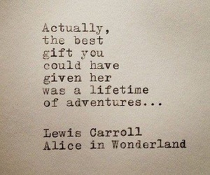 quotes, alice in wonderland, and adventure image