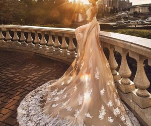 amazing, sunset, and wedding dress image