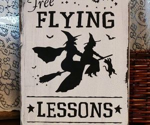 Flying and witch image