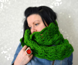 scarf, circle scarf, and etsy image