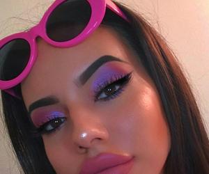 makeup, girl, and pink image