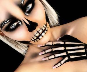 Halloween, make-up, and skull image