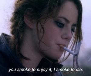 grunge, sad, and cigarette image