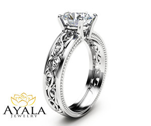 etsy, engagementring, and white gold ring image