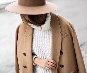 camel, coat, and sweater image