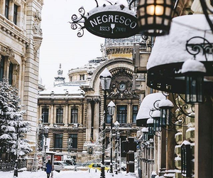 city, snow, and b v m image