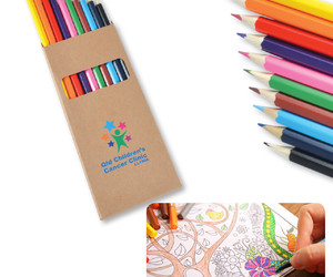 cardboard tube, promotional colour pencil, and printed color pencil image