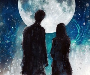 doctor who, art, and moon image