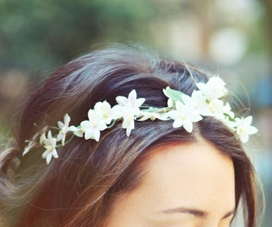 flower crown, crown, and flowers image