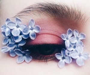 beauty, eye, and eye makeup image