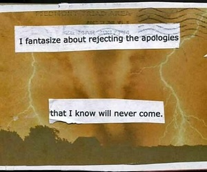 apology, quotes, and text image