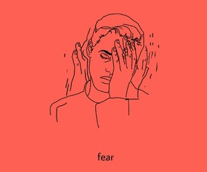 fear, line art, and stress image