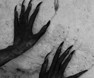 claws, gothic, and demon image