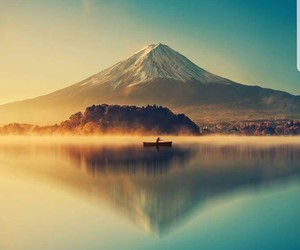 mountains, japan, and landscape image