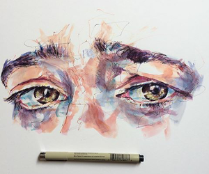 art, eyes, and drawing image
