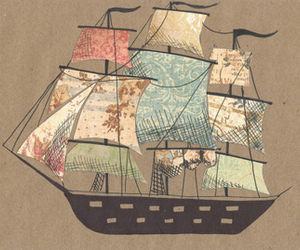 ship, art, and boat image