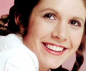 star wars, carrie fisher, and smile image
