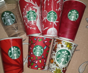 cups, collection, and starbucks image