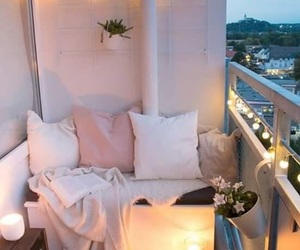 home, balcony, and pink image