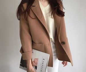 asian fashion, beige, and chic image